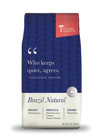 Civilized Coffee Brazilian Natural Whole Bean