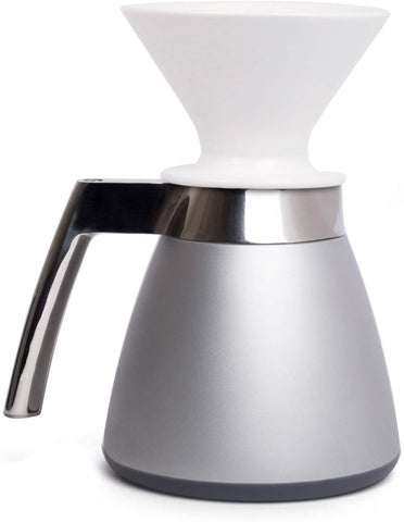 Ratio Thermal Carafe with Porcelain Dripper - Bright Silver - Edition