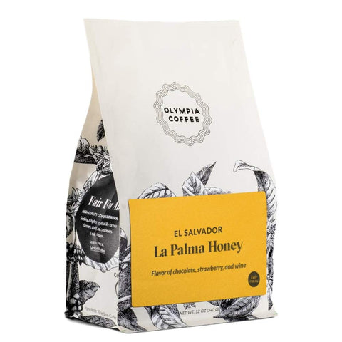 "Olympia Coffee ""El Salvador La Palma Honey"" Medium Roasted Fair Trade Whole Bean Coffee - 12 Ounce Bag"