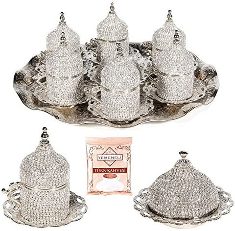 Turkish Greek Arabic Coffee Cup Saucer Set