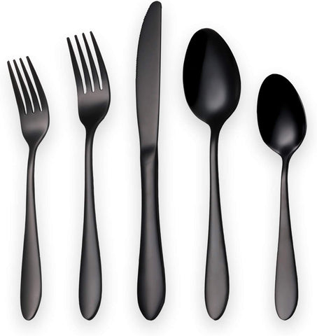 Titanium Black Plated Stainless Steel Flatware Set