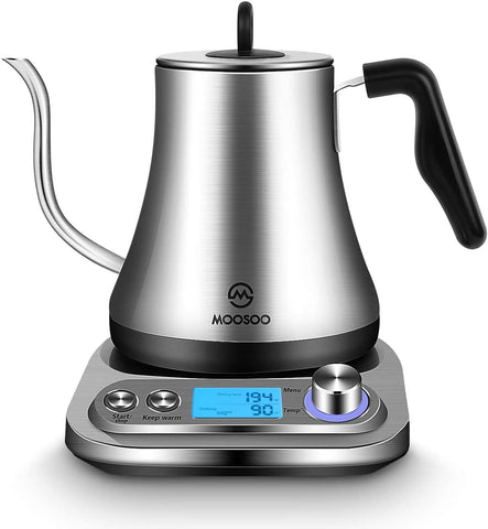 MOOSOO Electric Gooseneck Kettle with Temperature Controls