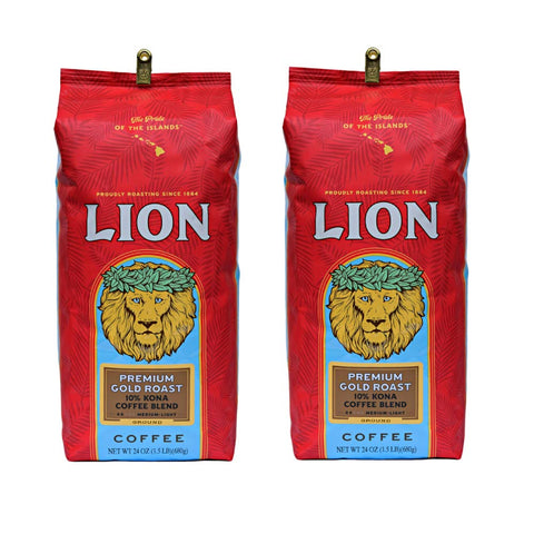Lion Coffee, Premium Gold Roast