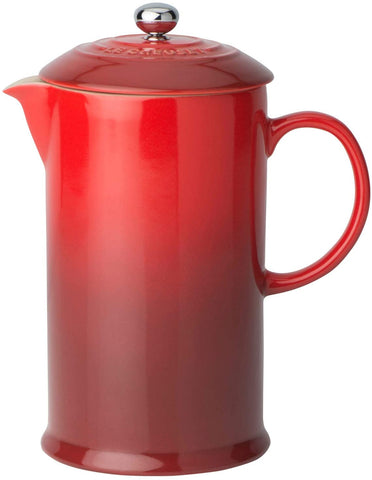 Le Creuset Stoneware French Press, 34 oz., Cerise