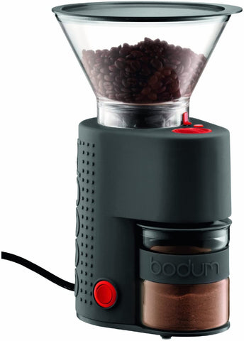 Bodum BISTRO Burr Coffee Grinder, Black