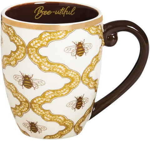 Cypress Metallic Bee-utiful Ceramic Cup