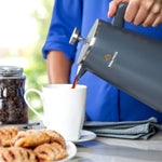 Blue Stainless Steel, French Press, Coffee Maker