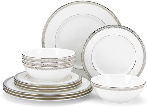 Lenox MCH Lace Couture DW 12pc Set, 14.7 LB, White