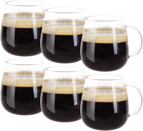 Farielyn-X Glass Coffee Mugs Set of 6
