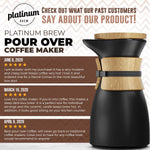 Pour Over Coffee Maker w/ Ceramic Carafe and Cone Funnel
