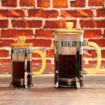 Sivaphe 34 oz French Press Coffee/Tea Maker and 12 OZ Clear Espresso Cups 2 Set