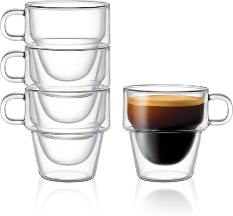Stoiva Insulated Espresso Glass Cups