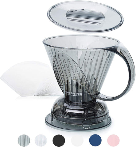 Clever Coffee Dripper and Filters, Includes 100 Filters