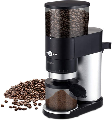 ENZOO Conical Burr Coffee Grinder with Detachable Design
