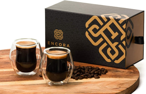 Encora Espresso Coffee Cups, Set of 2
