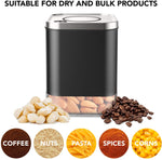 KF3020S Glass Storage Container. 1oz Coffee Canister by Kaffe - BPA Free Stainless Steel with Airtight Lid (SMALL)