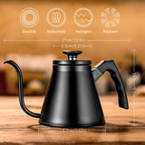 Stainless Steel Gooseneck Pour Over Coffee Kettle