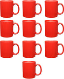 Ceramic 11 Ounce RED Coffee Mugs