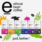 ETHICAL BEAN Fairtrade Organic Coffee, Superdark French Roast, Whole Bean Coffee - 100% Arabica Coffee (12 oz Bag)