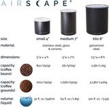 Airscape Coffee Storage Canister, Aqua