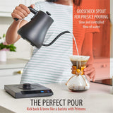 Gooseneck Electric Kettle Variable Temperature Control 7 Presets