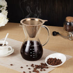 Pour Over Coffee Maker w/ Stainless Steel Mesh Filter