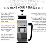 ESPRO P5 Double Micro-Filtered Coffee French Press, 18 Ounce, Polished Copper Finish