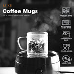 LUXU Glass Coffee Cup Set of 4