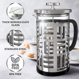 French Press Coffee Maker with Borosilicate Glass