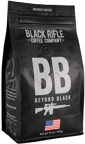 Black Rifle Coffee Whole Bean (Beyond Black (Dark Roast), 12 Ounce)