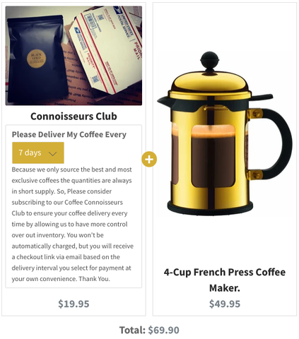Connoisseur Club & 4cup French Press