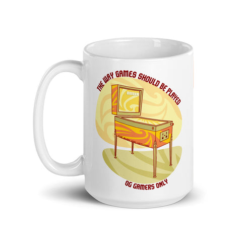 Retro Pinball OG Gamers Mug - Shop The Busy Dad Network