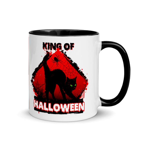Black Cat King Of Halloween Collector's Mug - Shop The Busy Dad Network