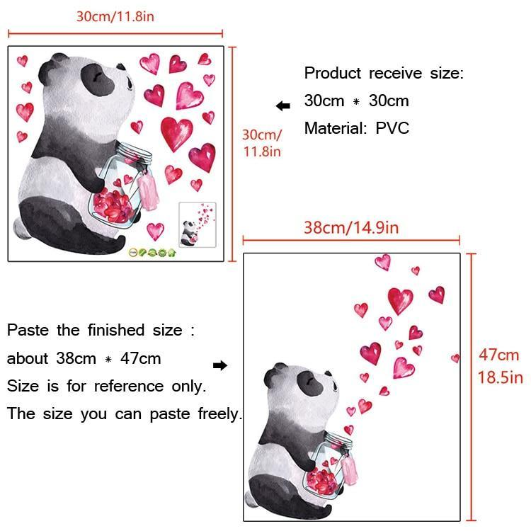 Panda Wall Stickers - Fill Your House with LOVE-Panda Wonders