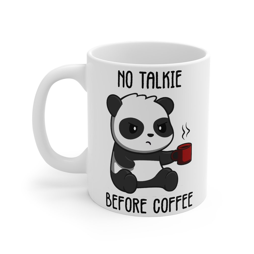 No Talkie Before Coffee Mug-Panda Wonders