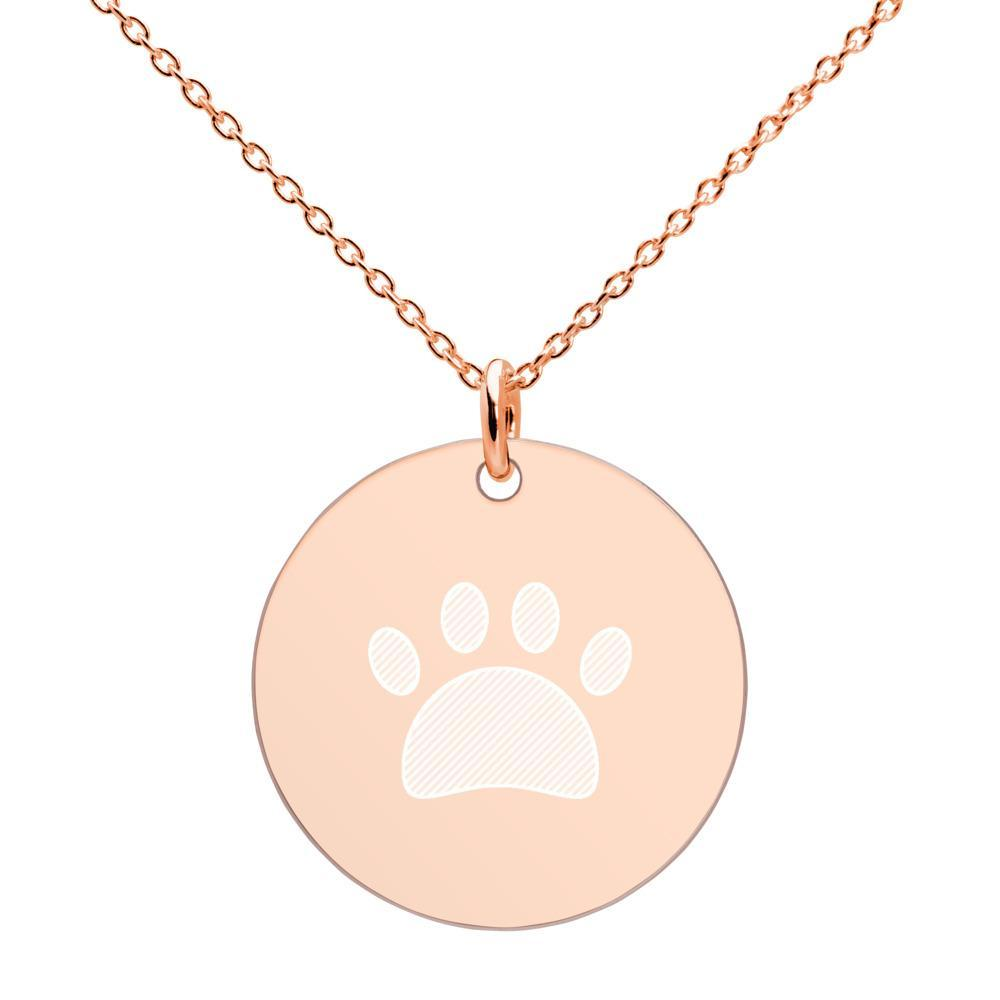 Panda Necklace: Engraved Baby Panda Paw-Panda Wonders