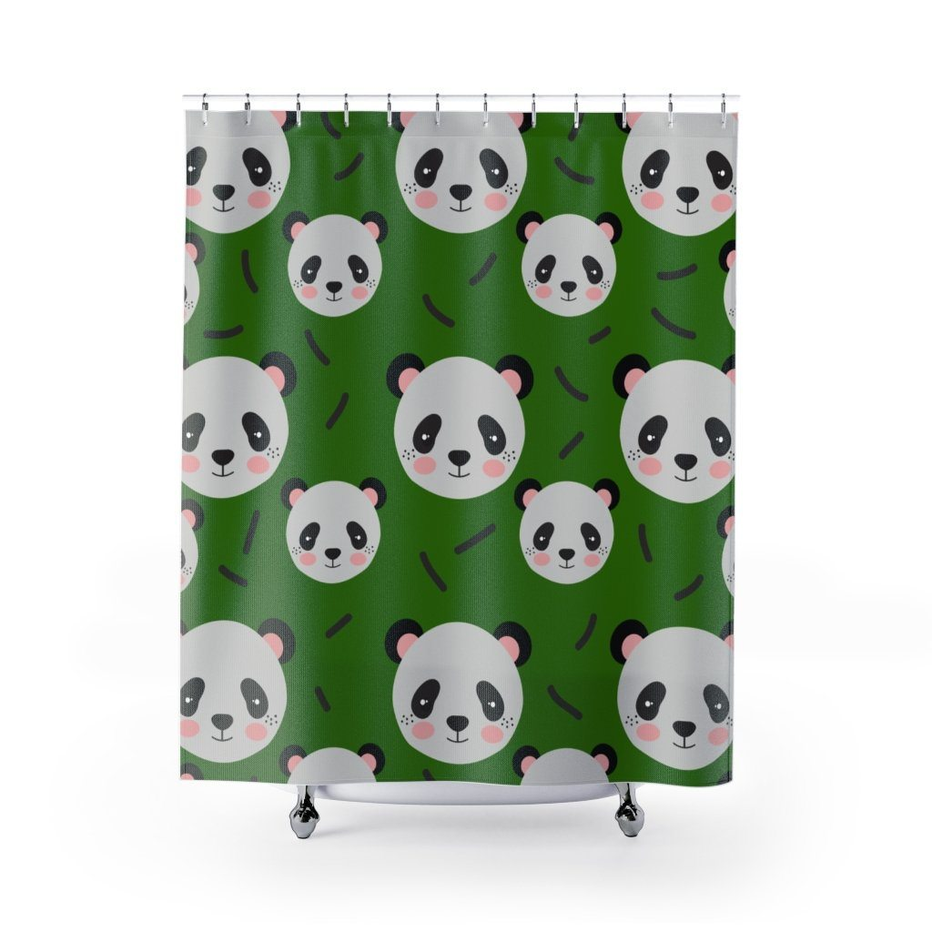 Panda Shower Curtain - Bamboo Grove Adventure-Panda Wonders