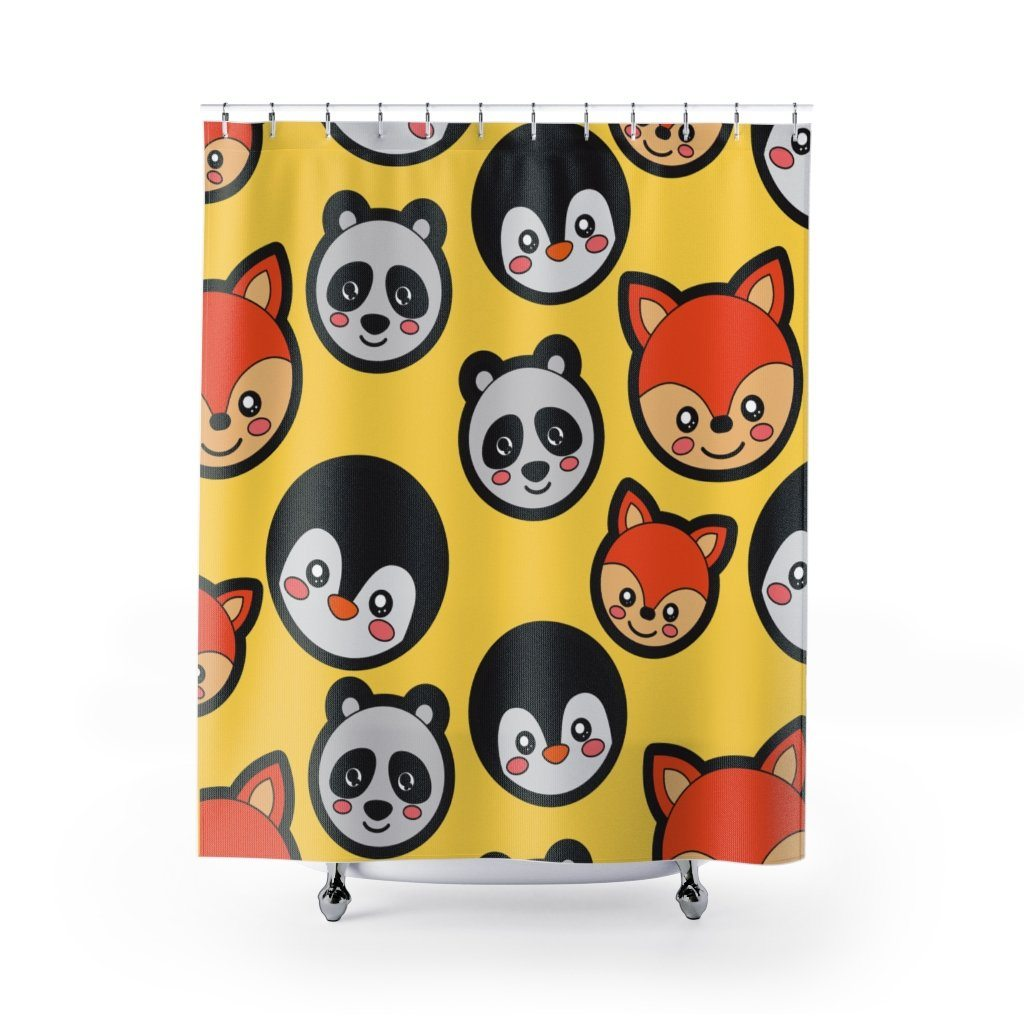 Panda Shower Curtain: Panda and Friends-Panda Wonders
