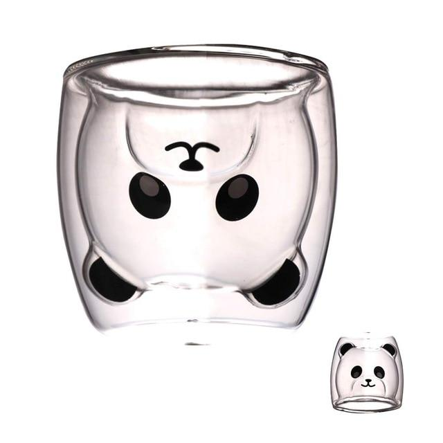 Glass Coffee Mugs-Panda Wonders