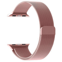 Promate - Milanese Loop 42mm/44mm Apple Watch Strap, Premium Stainless-Steel Mesh Milanese Replacement Strap with Secure Adjustable Magnetic Closure for Apple Watch Series 1/2/3/4, Milous-42 Pink