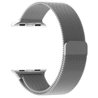 Promate - Milanese Loop 42mm/44mm Apple Watch Strap, Premium Stainless-Steel Mesh Milanese Replacement Strap with Secure Adjustable Magnetic Closure for Apple Watch Series 1/2/3/4, Milous-42 Silver