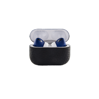 Merlin Craft Royal Collection Apple Airpods Pro Calf Black With Blue
