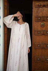 Fatima with Love - Light Pink Chiffon Kaftan