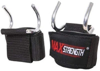 Max Strength Bar Hooks Gym Training Bodybuilding Chin Up Weight Lifting Straps