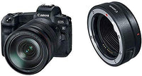 Canon EOS R With RF 24-105mm F4L IS USM Lens, Digital Full Frame Mirrorless Camera - Black
