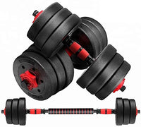 Max Strength 15-30kg dumbbell and Barbell Set Weightlifting fitness black cement steel rubber adjustable 15-30Kg dumbbell and Barbell Set 2 in 1
