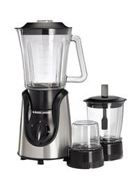Black & Decker BX600G-B5 600W Glass Blender with Grinder and Mincer Chopper