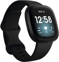 Fitbit Versa 3 Fitness Aluminum Wristband with Heart Rate Tracket