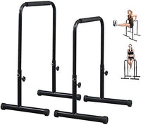 Adjustable Dip Bars, Full Set Dip Up Stand Station Triceps Strength, Pull-Ups, Push-Ups, L-Sits Split Parallel Bars Stand (Random Color)