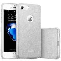 Passion4 Glitter Rubber Case For Iphone 7 Silver